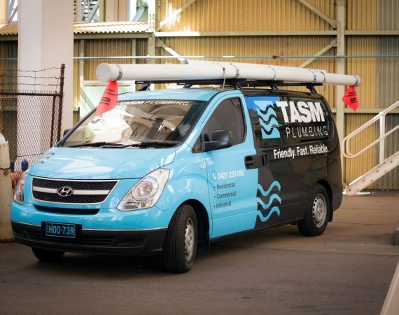 New Tasm Plumbing vans driving around Illawarra